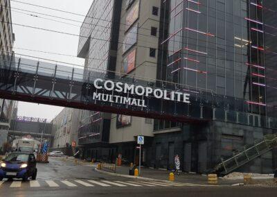 Комплексное оформление ТРЦ Cosmopolite Multimall рекламными конструкциями