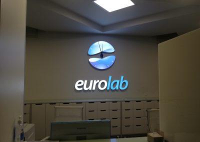 Оформление реcепшн «EUROLAB»