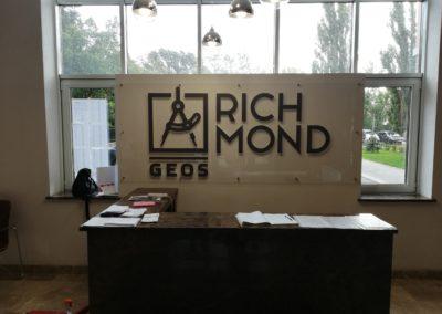 Оформление ресепшн ЖК Richmond