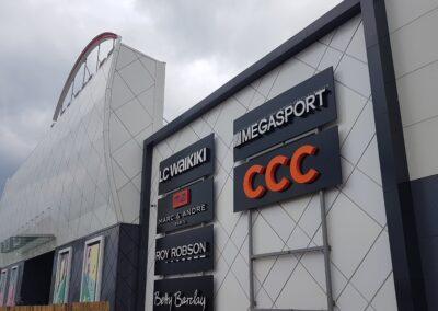 Фасадная вывеска CCC